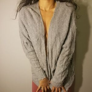 LA hearts gray open sweater cover up no buttons or